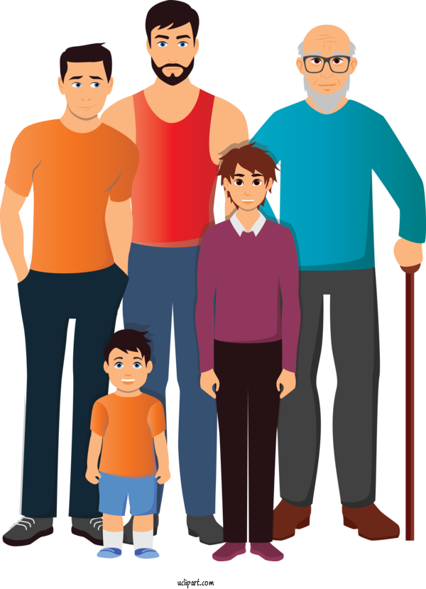 Transparent People People Social Group Cartoon For Family for People