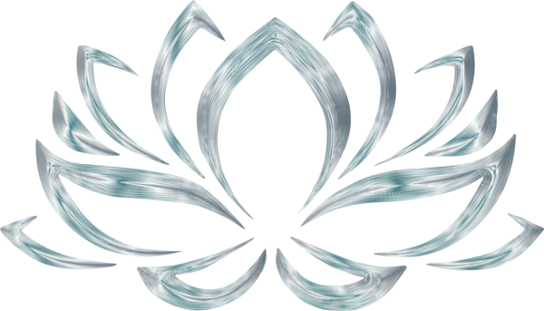 Transparent Lotus Flower Body Jewelry Symmetry Flower Clipart for Flowers