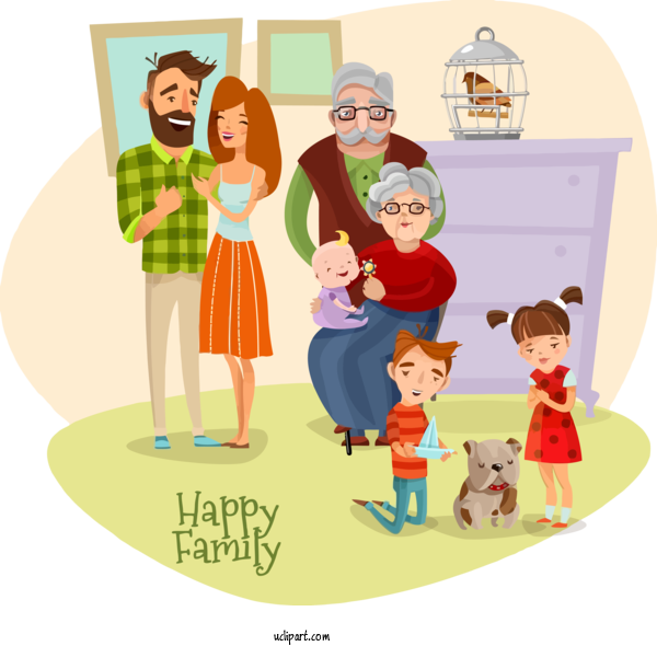 Transparent Holidays Cartoon People Sharing For Family Day for Holidays