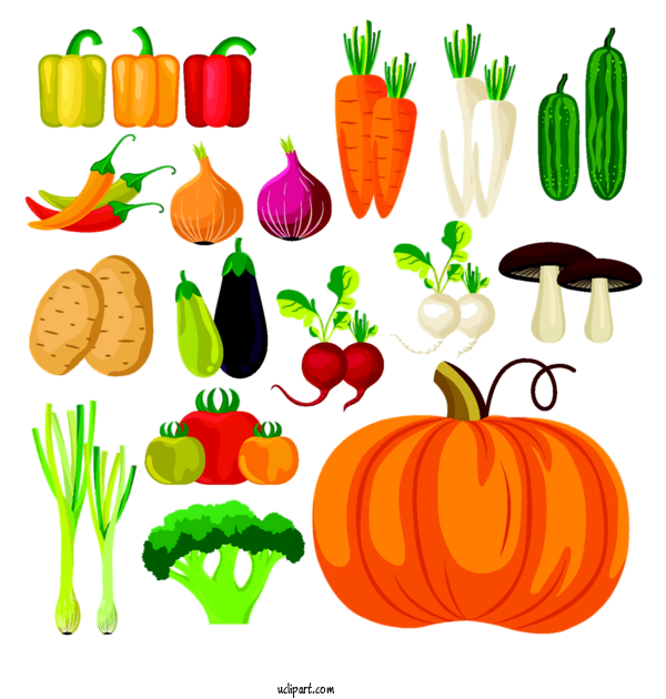 Free Holidays Vegetable Food Group Natural Foods For Thanksgiving Clipart Transparent Background