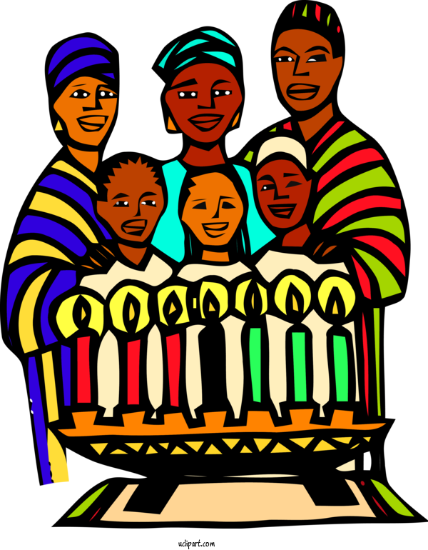 Transparent Holidays People Social Group Cartoon For Kwanzaa for Holidays