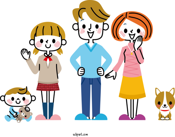 Transparent Holidays Cartoon People Social Group For Family Day for Holidays