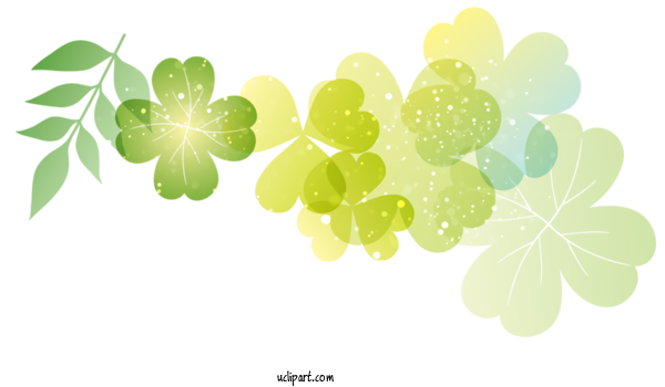 Free Holidays Leaf Green Plant For Saint Patricks Day Clipart Transparent Background