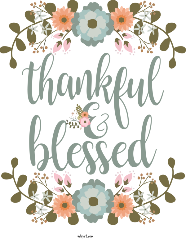 Transparent Holidays Font Text Cut Flowers For Thanksgiving for Holidays