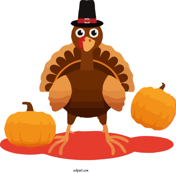 Transparent Holidays Cartoon Trick Or Treat Turkey For Thanksgiving for Holidays