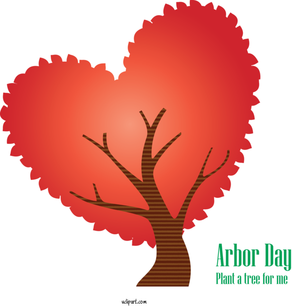 Transparent Holidays Heart Love Plant For Arbor Day for Holidays