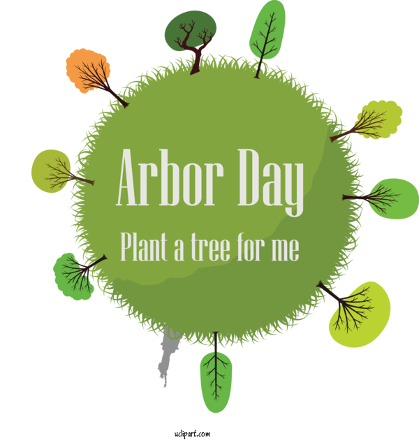 Transparent Holidays Green Logo Font For Arbor Day for Holidays