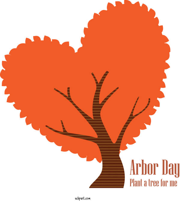 Transparent Holidays Tree Plant Heart For Arbor Day for Holidays