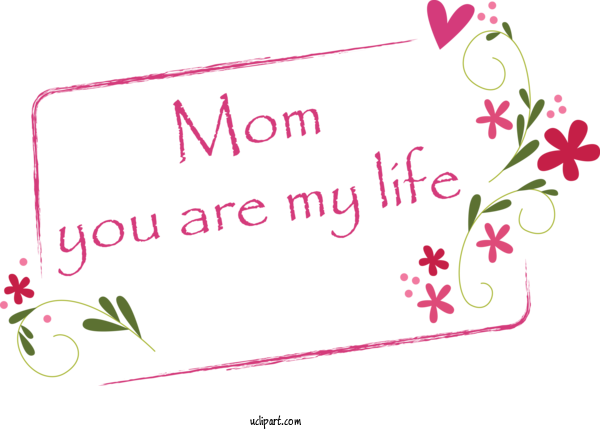 Transparent Holidays Pink Text Font For Mothers Day for Holidays