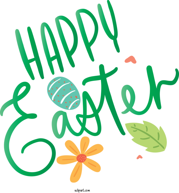 Transparent Holidays Green Text Font For Easter for Holidays