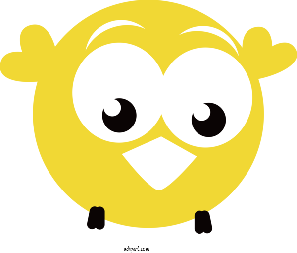 Transparent Holidays Yellow Facial Expression Cartoon For Easter for Holidays