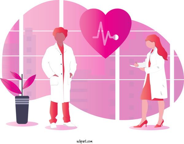 Transparent Occupations Pink Magenta Heart For Doctor for Occupations