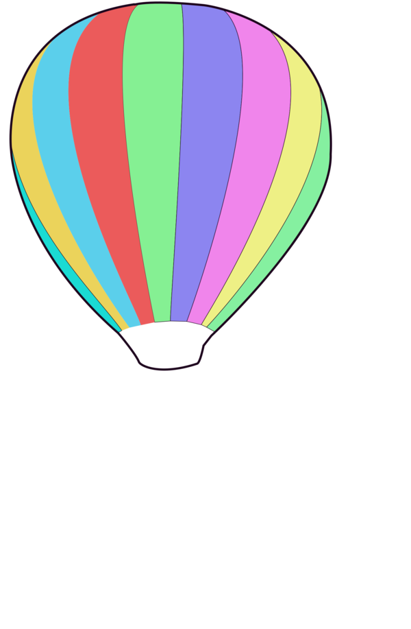 Transparent Hot Air Balloon Leaf Line Area Clipart for Transportation