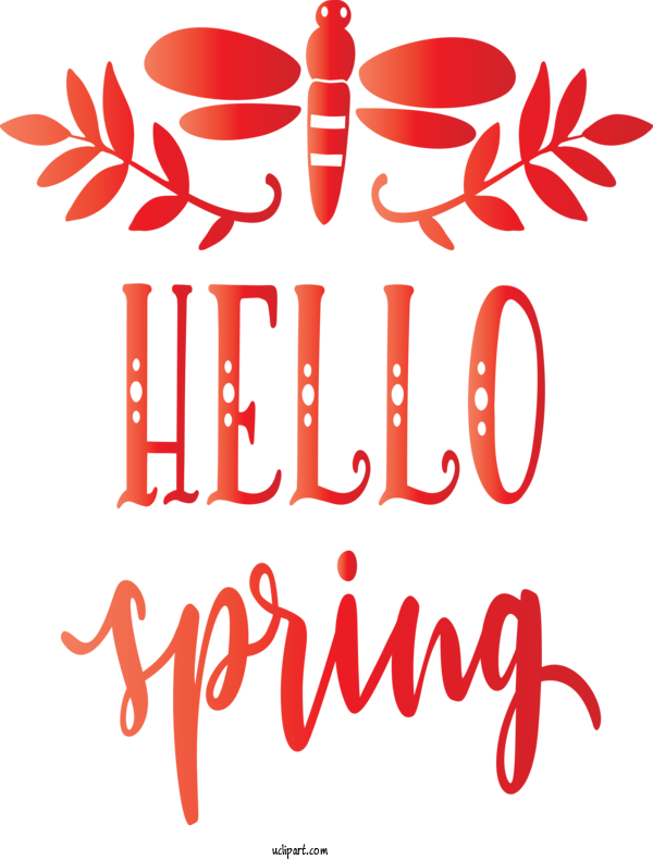 Transparent Nature Text Red Font For Spring for Nature