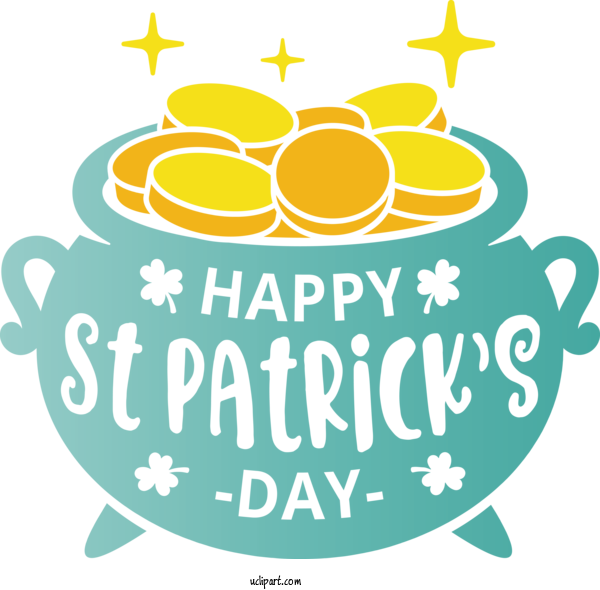 Transparent Holidays Yellow Font For Saint Patricks Day for Holidays