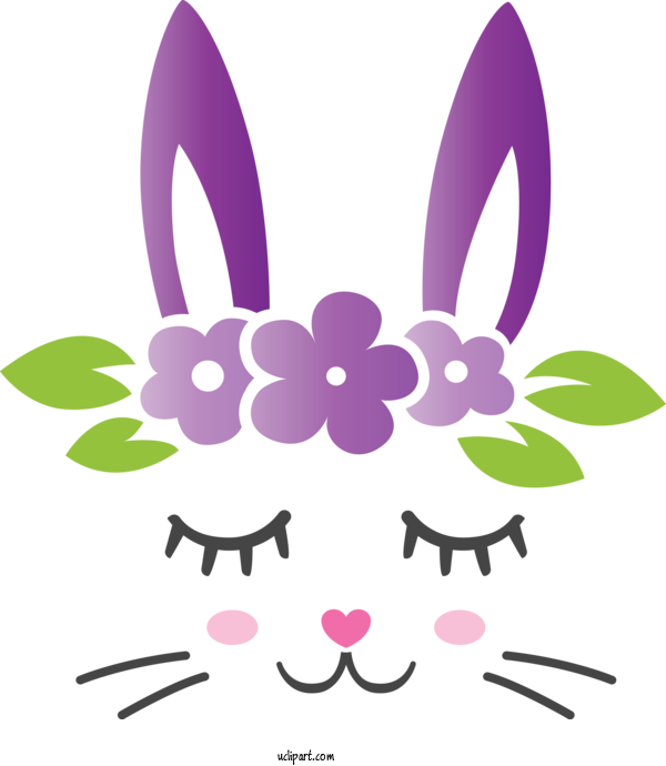 Transparent Holidays Violet Purple Easter Bunny For Easter for Holidays
