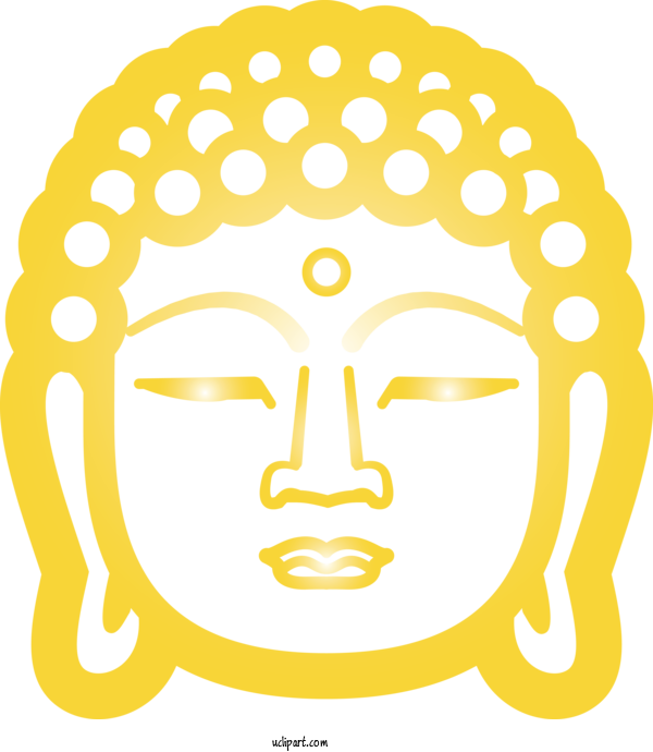 Free Religion Face White Facial Expression For Buddhist Clipart Transparent Background
