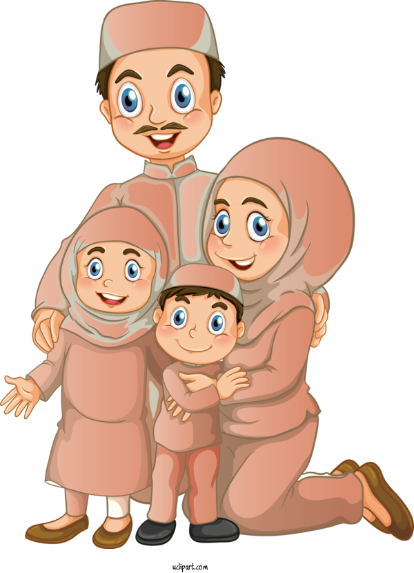 Free Religion Cartoon People Finger For Muslim Clipart Transparent Background