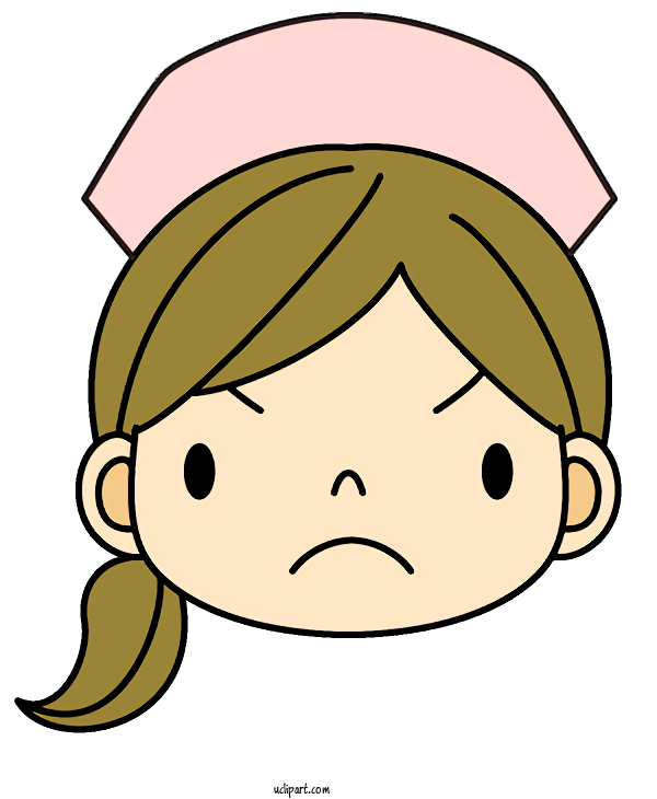 Free Occupations Cartoon Face Facial Expression For Nurse Clipart Transparent Background