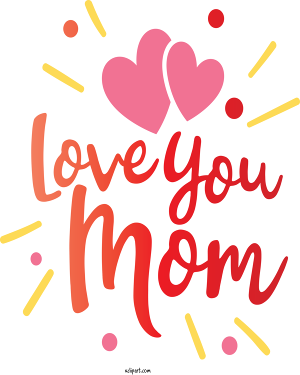 Transparent Holidays Text Font Heart For Mothers Day for Holidays
