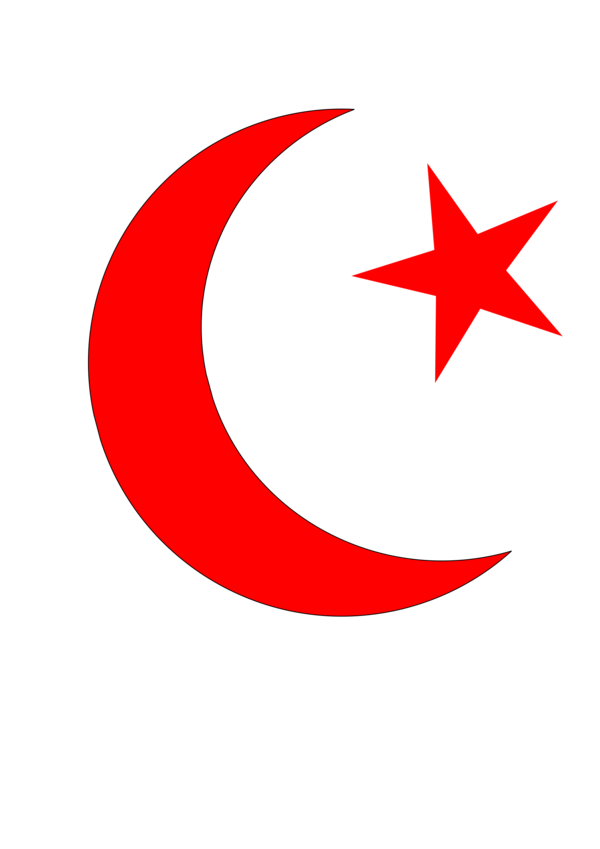 Transparent Islam Line Crescent Area Clipart for Religion