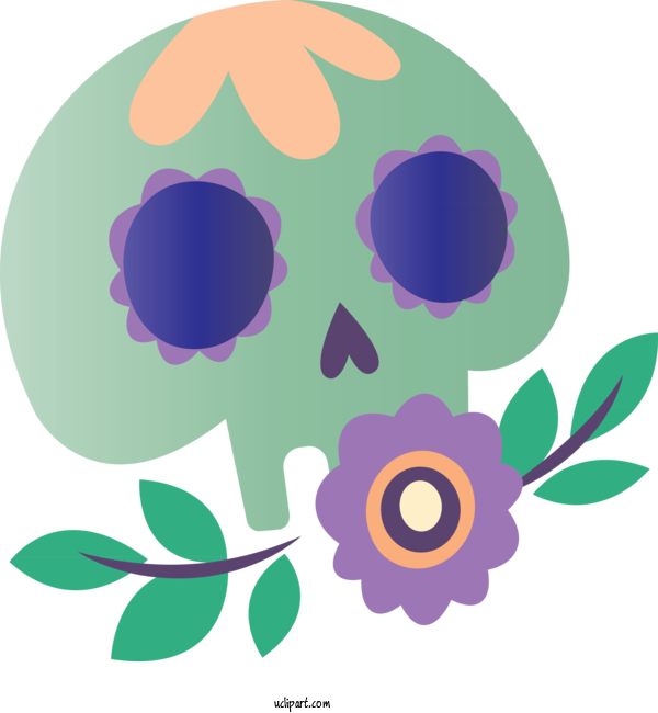 Transparent Holidays Flower Leaf Purple For Day Of The Dead for Holidays