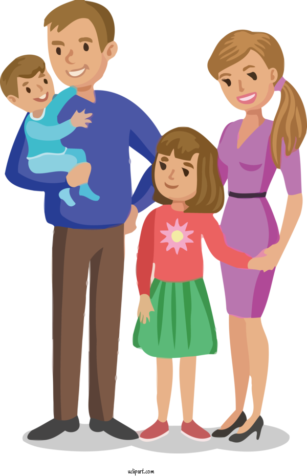 Free People Cartoon Father Design For Family Clipart Transparent Background
