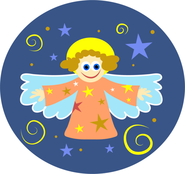 Transparent Angel Area Circle Angel Clipart for Cartoon