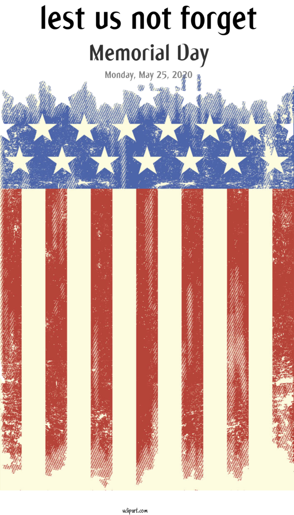 Transparent Holidays Grunge Poster For Memorial Day for Holidays