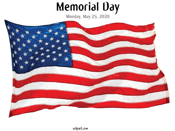 Transparent Holidays United States Flag Of The United States Flag For Memorial Day for Holidays