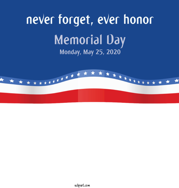 Transparent Holidays Logo Font Line For Memorial Day for Holidays