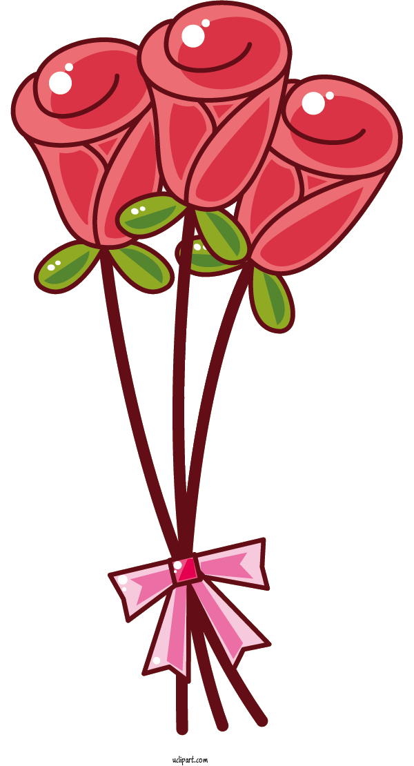 Free Flowers Flower Bouquet Floral Design Drawing For Rose Clipart Transparent Background