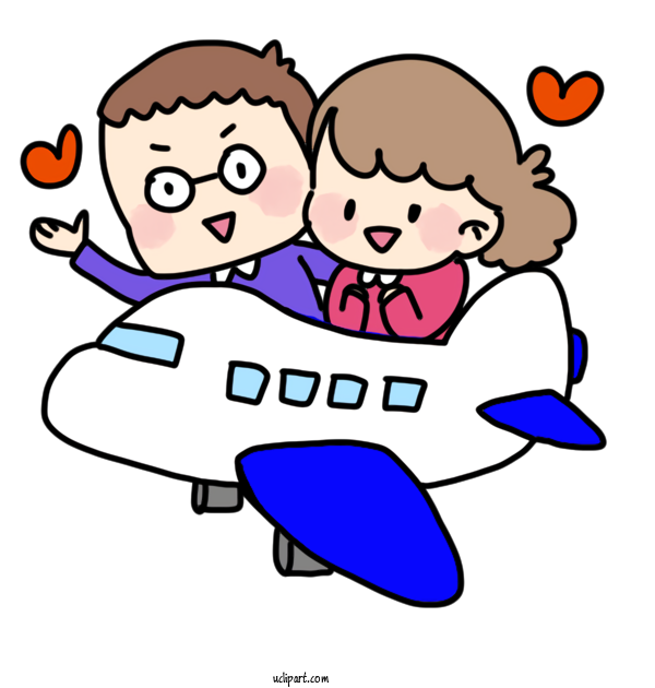 Free Life Cartoon Honeymoon Hitchhiking For Daily Necessaries Clipart Transparent Background