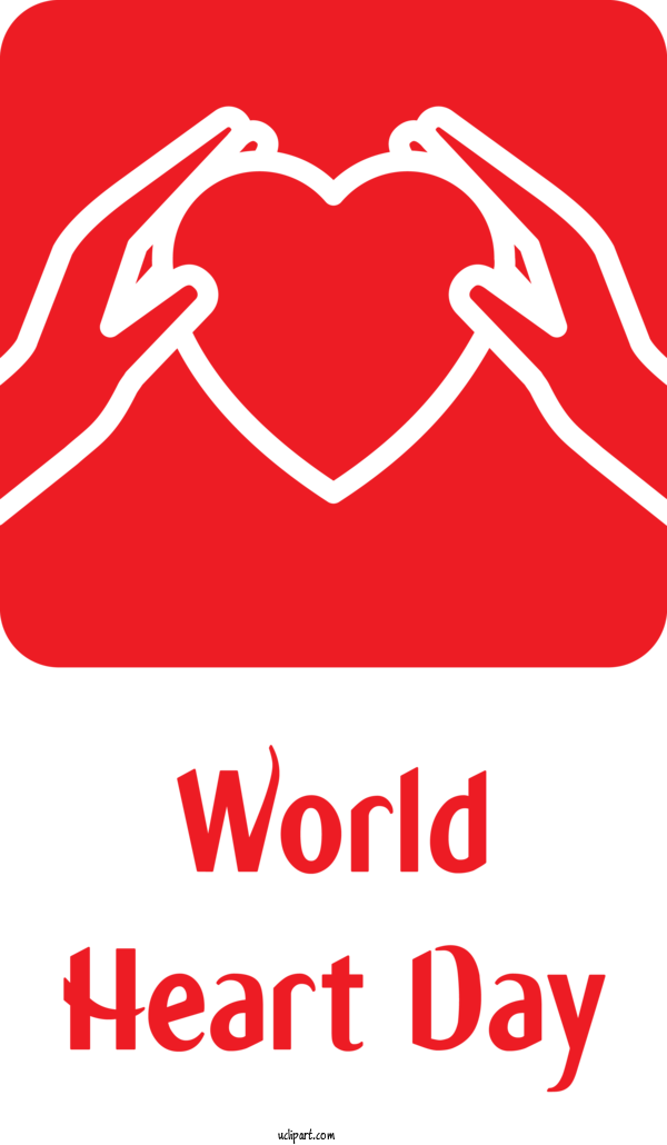 Transparent Holidays Logo Drawing Cartoon For World Heart Day for Holidays