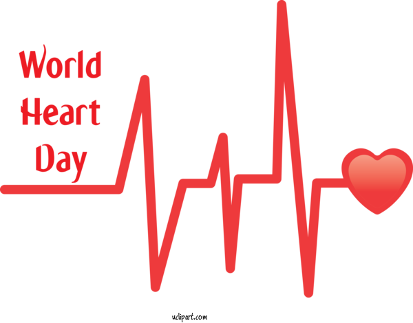 Transparent Holidays Logo Drawing Watercolor Painting For World Heart Day for Holidays