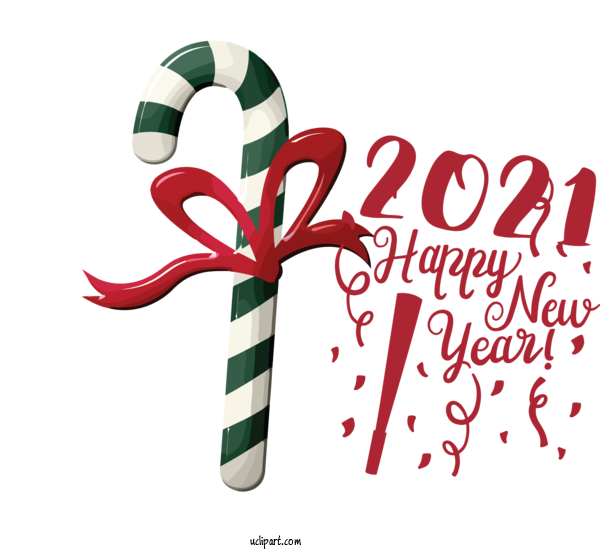 Transparent Holidays Candy Cane Christmas Ornament Logo For New Year for Holidays
