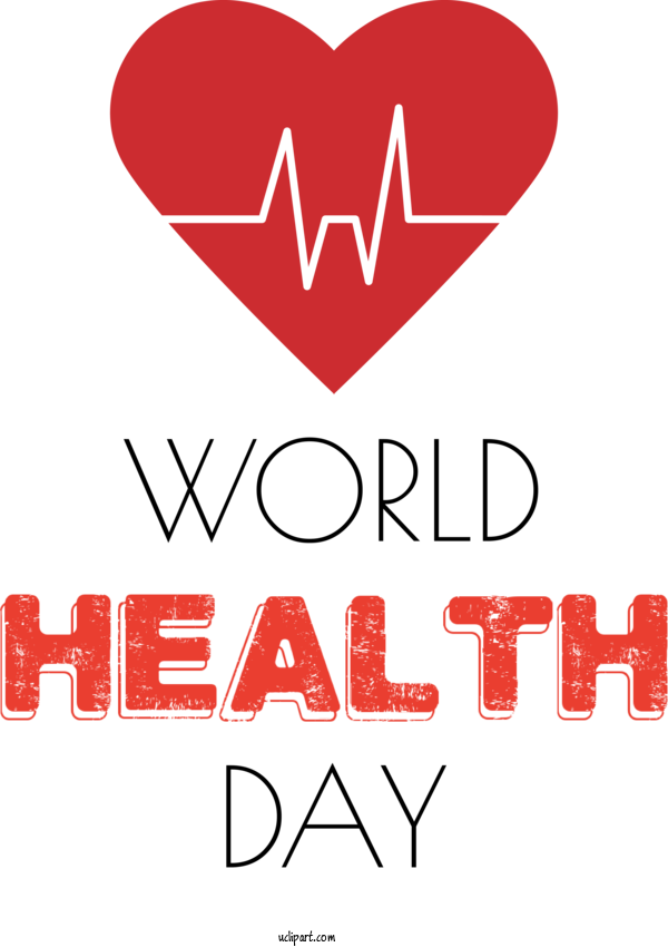 Transparent Holidays Logo Meter Red For World Health Day for Holidays