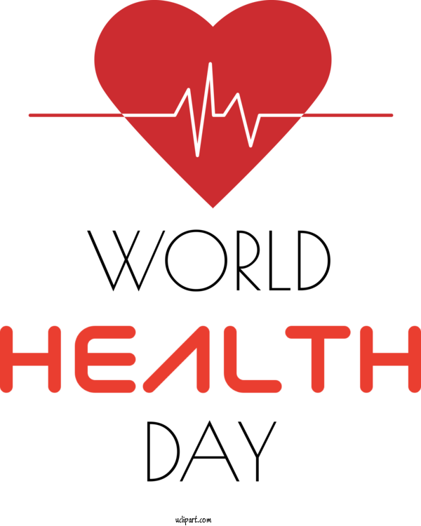 Transparent Holidays Logo Line Valentine's Day For World Health Day for Holidays