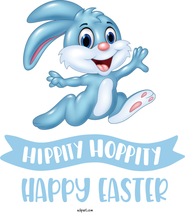 Transparent Holidays Rabbit Cartoon Humour For Easter for Holidays