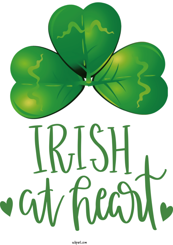 Transparent Holidays Leaf Shamrock Green For Saint Patricks Day for Holidays