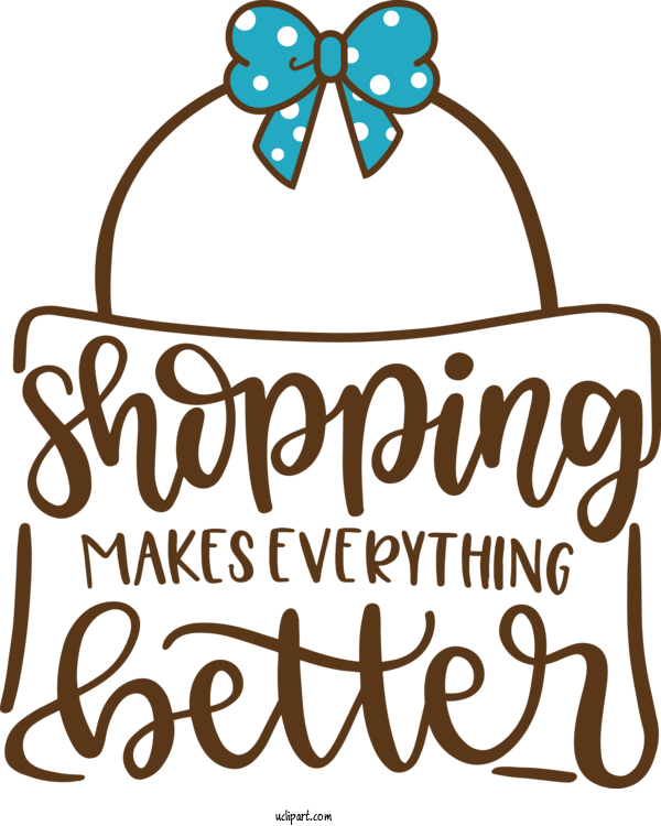 Transparent Shopping Design Logo Black And White For Clothing for Shopping
