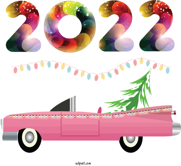 Free Holidays Ultra High Definition Television 8K Resolution Wide XGA For New Year 2022 Clipart Transparent Background