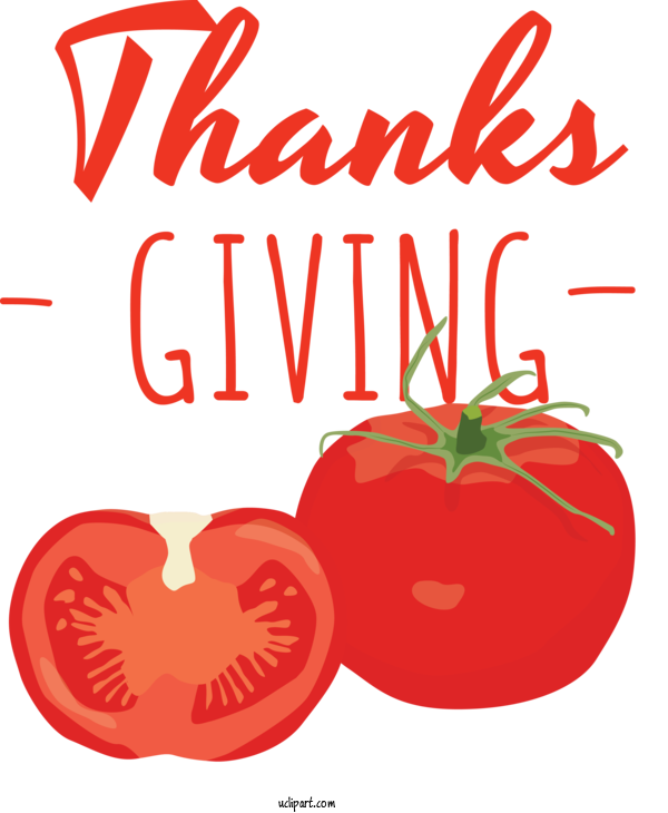 Free Holidays Tomato Natural Food Local Food For Thanksgiving Clipart Transparent Background